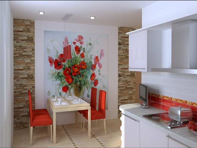 Дизайн маленькой эконом кухни